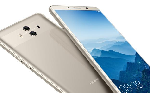 Huawei Mate 10 en color Champagne Gold.