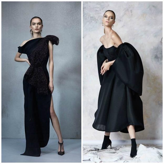 a835b31f6 La primera es un vestido con estructura y muy divertido. Y el segundo más  corto y con volumen