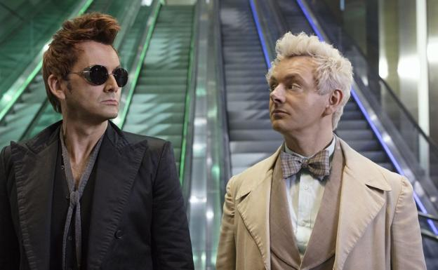 David Tennant y Michael Sheen son los protagonistas de 'Good Omens'./