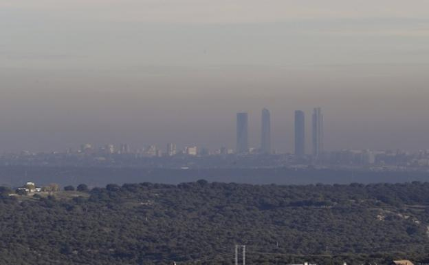 Vista de Madrid contaminado. /Efe