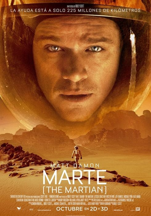 Cartel de 'Marte (The Martian)'. /